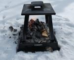 fire in snow