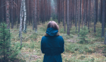 image of girl in forest