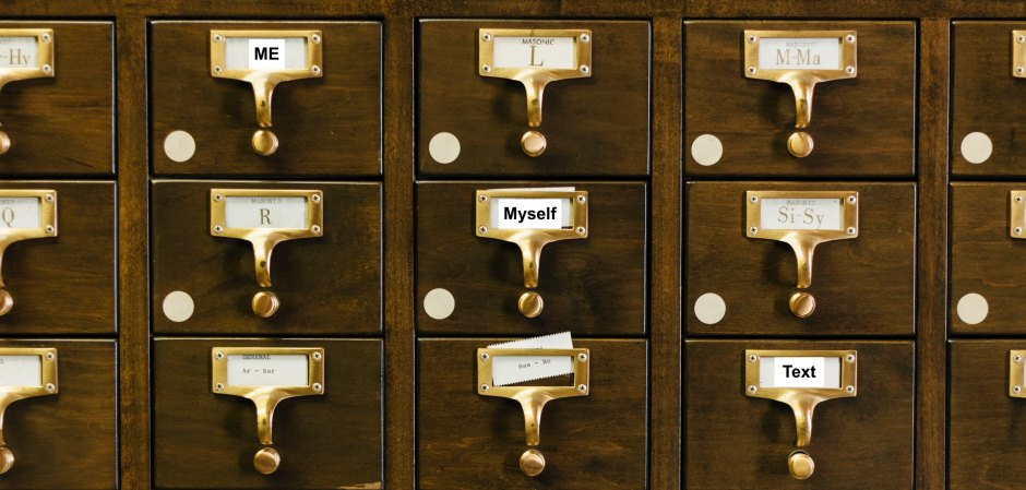 card catalogue drawers